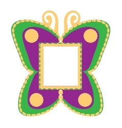 photo frame in the shape of butterflies vector image