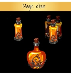Set of vintage magic elixirs three bottles vector image vector image