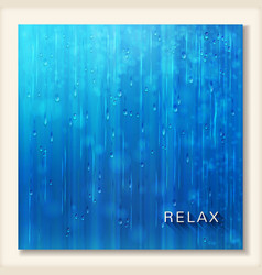 Blue shiny rain abstract water background design vector