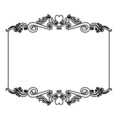 decorative card frame floral border cute image vector image vector image