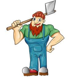 lumberjack cartoon isolated vector image vector image