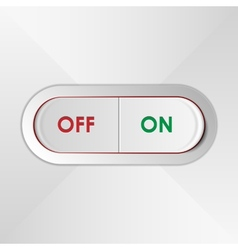 On Off Switch vector image vector image