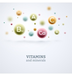 Vitamins and Minerals vector image vector image