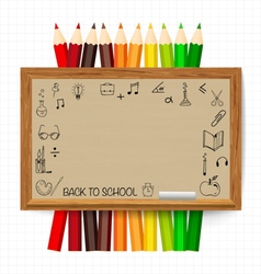 Welcome back to school with blackboard vector image vector image