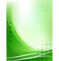 abstract green flowing background vector image