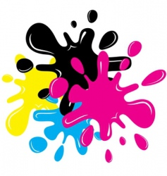 CMYK splatters vector image vector image