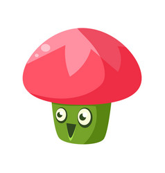 cute fantastic plant character in the form of a vector image vector image