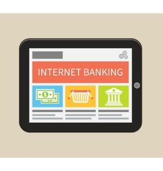 Internet banking online purchasing and transaction vector image vector image