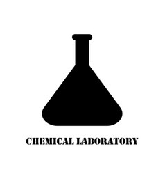 logo chemical laboratory flask vector image