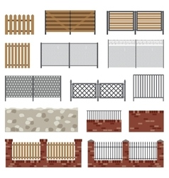 Simple flat fences vector image vector image