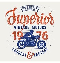 Superior motorcycle 003 vector image vector image
