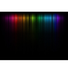 vertical lines abstract rainbow dark top vector image