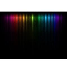 vertical lines abstract rainbow dark top vector image vector image