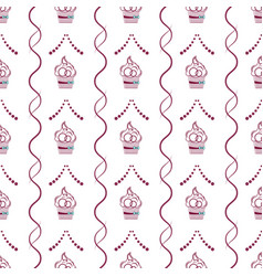 cake outline with interwoven lines and dots vector image vector image