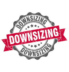 downsizing stamp sign seal vector image vector image