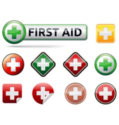 First aid icons vector image vector image