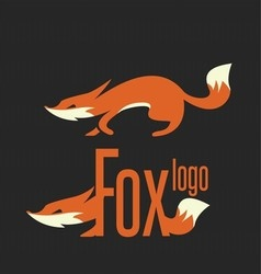 fox logo 1 vector image