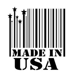 stamp made in usa vector image