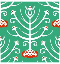 Suzani ethnic pattern with Kazakh motifs vector image vector image