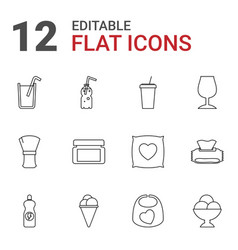 12 soft icons vector