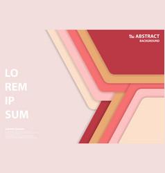 Abstract minimal design paper cut pastel color vector