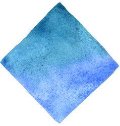 abstract sky blue and aqua blue square watercolor vector image