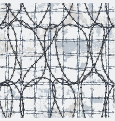 barbed wire wallpaper vector image