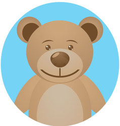 Bear teddy icon app mobile vector image
