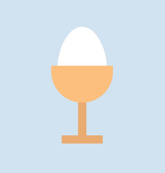 Boiled egg food and gastronomy set flat icon vector