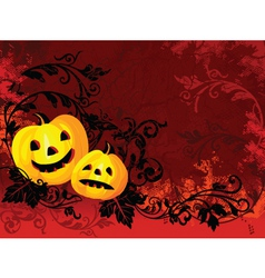 Burning halloween vector