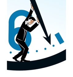 Businessman stopping time vector