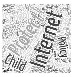 child internet protection Word Cloud Concept vector image