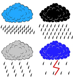 Clouds with precipitation vector image vector image