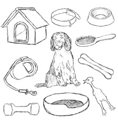 Collection dog supplies vector