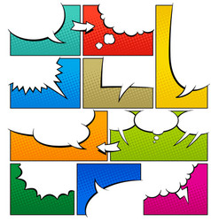 color comic book page template vector image