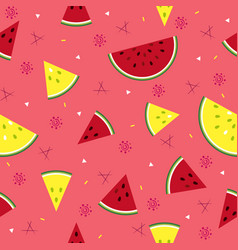 colorful fresh watermelon fruits seamless summer vector image