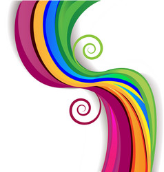 Colorful rainbow swirly over white background vector