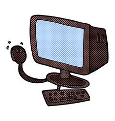 Comic cartoon computer vector