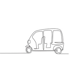 Continuous one line drawing from side vector