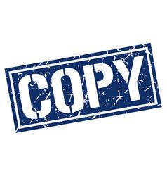 Copy square grunge stamp vector