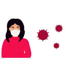 coronavirus in china novel virus 2019-ncov vector image