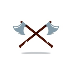 Crosswise Two Axes Cartoon vector image