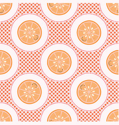 Cute oranges polka dot vector
