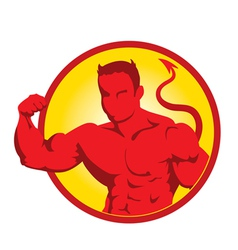 Devil bodybuilder3 vector image