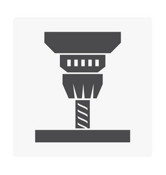 drilling icon vector image