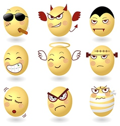Eggs Emotions Set2 vector image