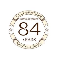 Eighty four years anniversary celebration logo vector
