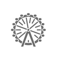ferris wheel london eye grey icon isolated vector image