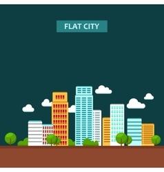 Flat of city urban landscape vector