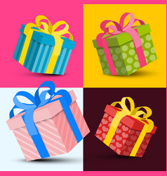 Gift boxes design vector